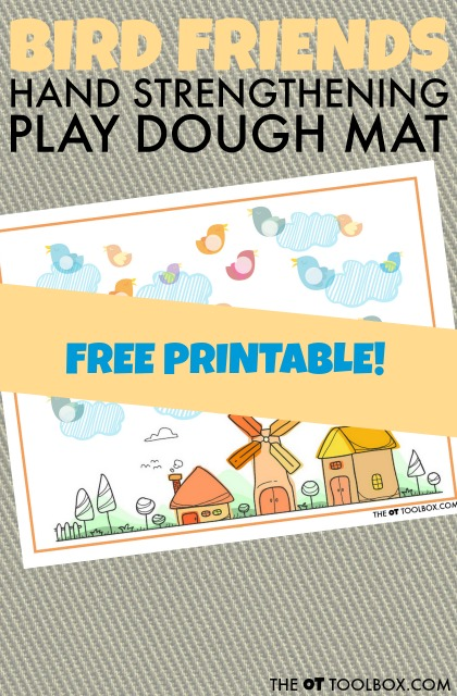 Bird Play Dough Mat for Hand Strength