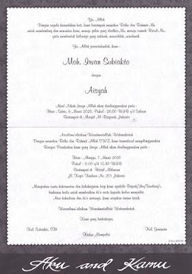 Undangan Pernikahan Termurah ErBa - 88145