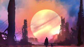 Sci-Fi, Digital Art, Silhouette, 8K, #4.958