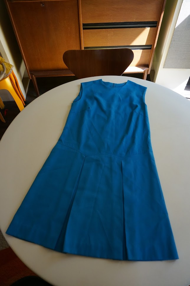 vintage dress 1960 1970 sleeveless twiggy mod 60s 70s