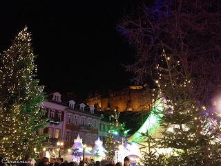 Heidelberger Weihnachtmarkt Kornmarkt Heidelberg Schloss