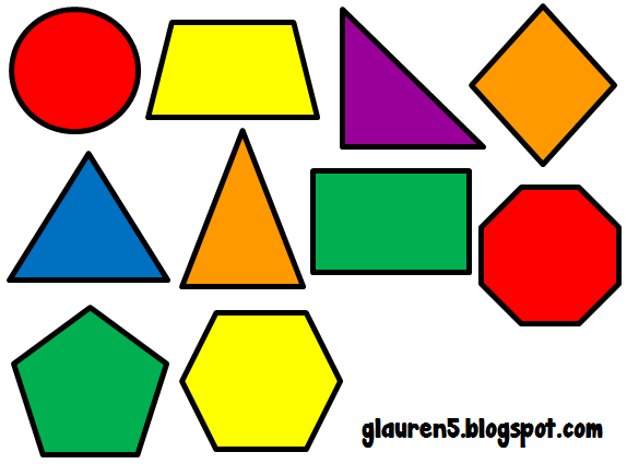 Ginger Snaps Clip Art: Primary Geometric Shapes Set