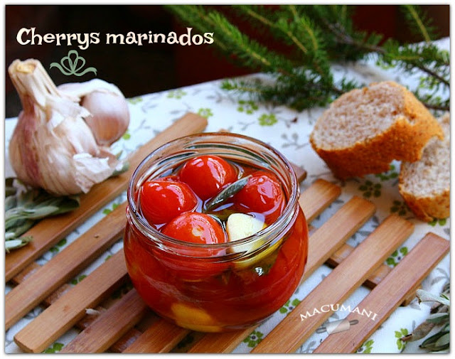 TOMATES CHERRYS MARINADOS . MACUMANI