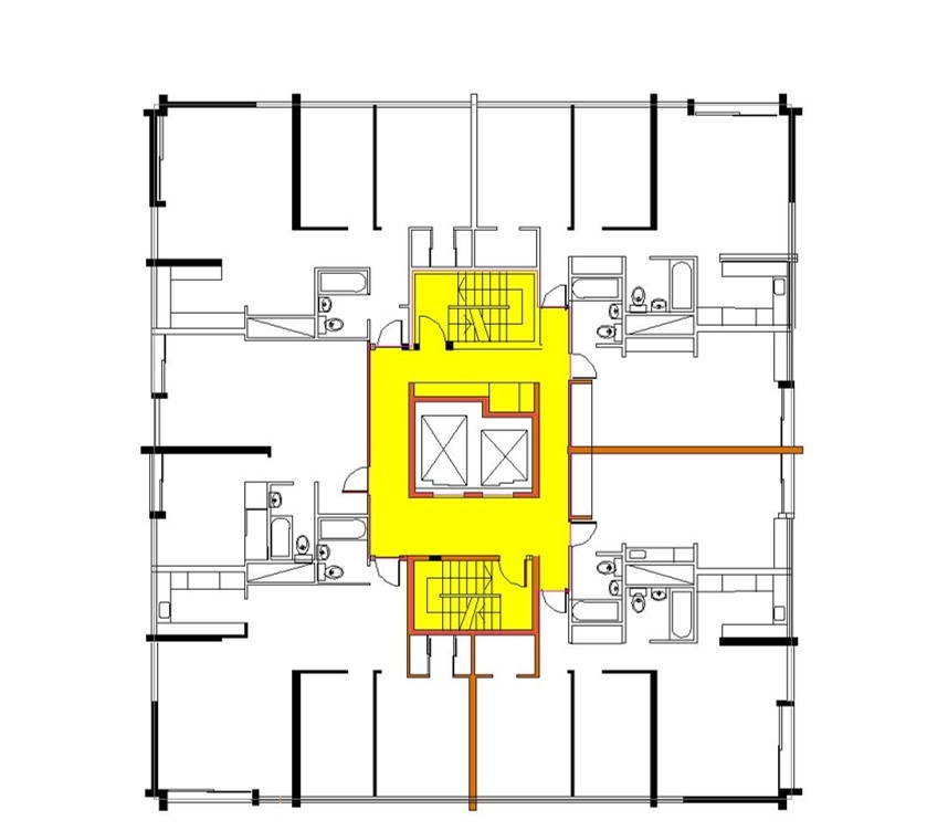 Affordable low and high rise honeycomb housing comparison for Apartment block floor plans