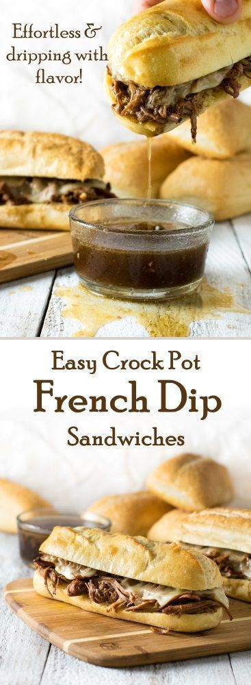 Easy And Delicious Crock Pot French Dip Sandwiches