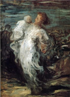 Honore Daumier - Mother with Child [1865]