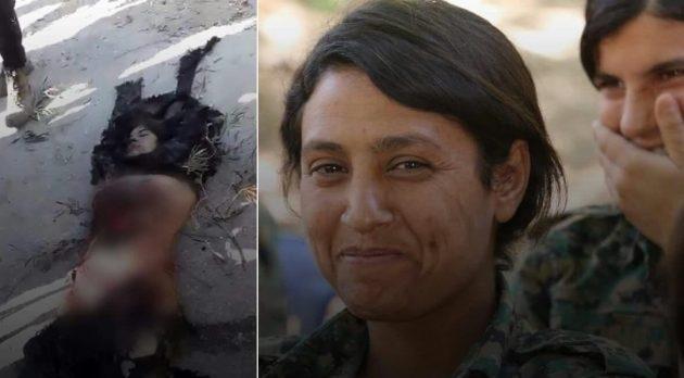 Οι μισθοφόροι Τουρκομογγόλοι διαμέλισαν ως άγρια θηρία το πτώμα νεκρής Κούρδισσας στρατιωτίνας