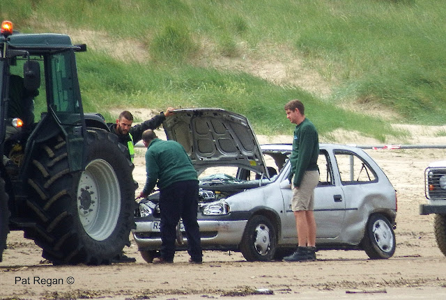 Wrecked cars moved from Formby/Ainsdale shore
