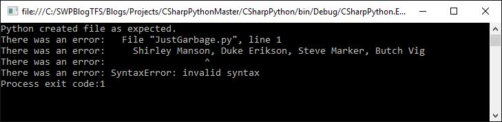Waitforexit c# exit code