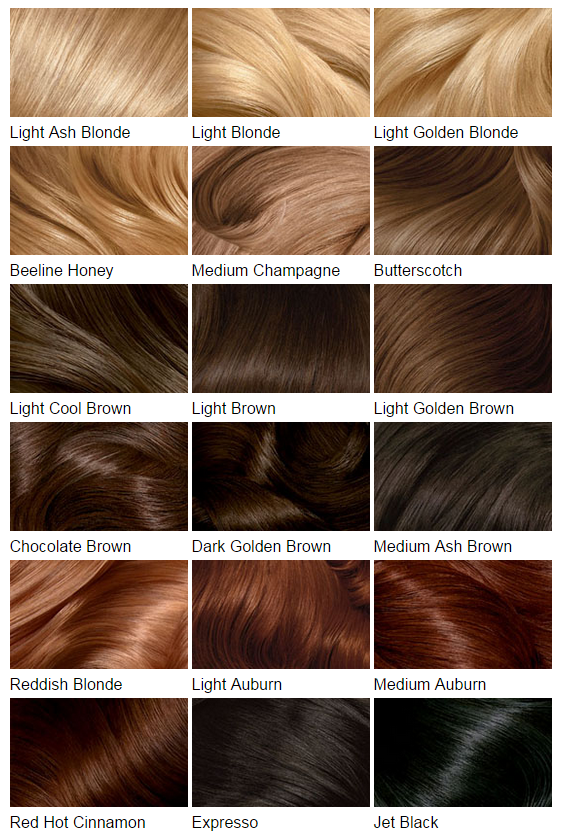 Hair Color Chart Honey Blonde Extensions Colour