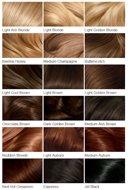 Clairol's Perfect 10's Hair color chart