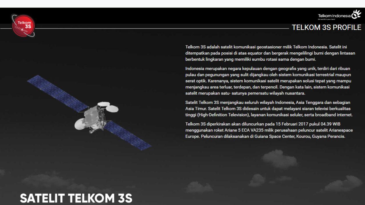Frekuensi Channel Telkom 3S Daftar Siaran Parabola Terbaru