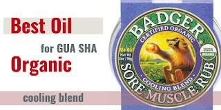 organic oil for gua sha