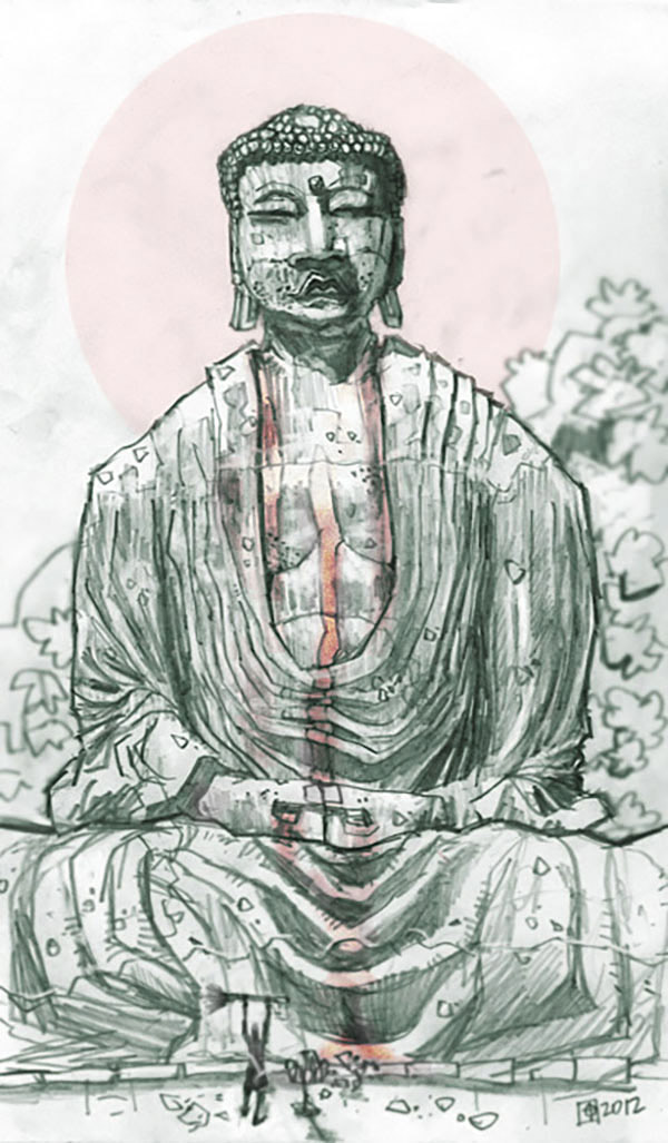 Tomas Overbai (US) - Buddha sketch