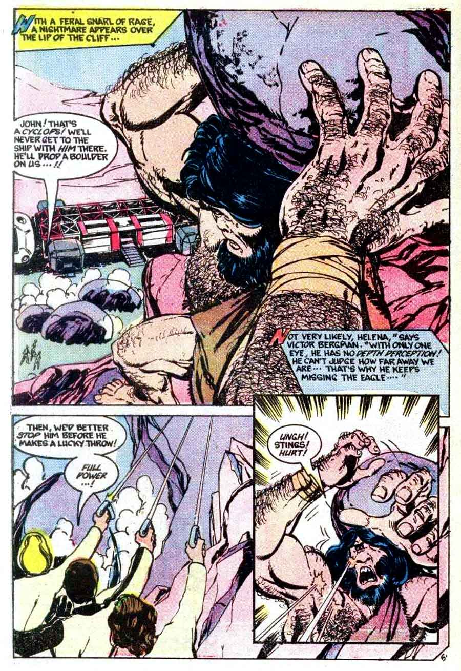 Space 1999 v1 #5 chalrton bronze age comic book page art by John Byrne