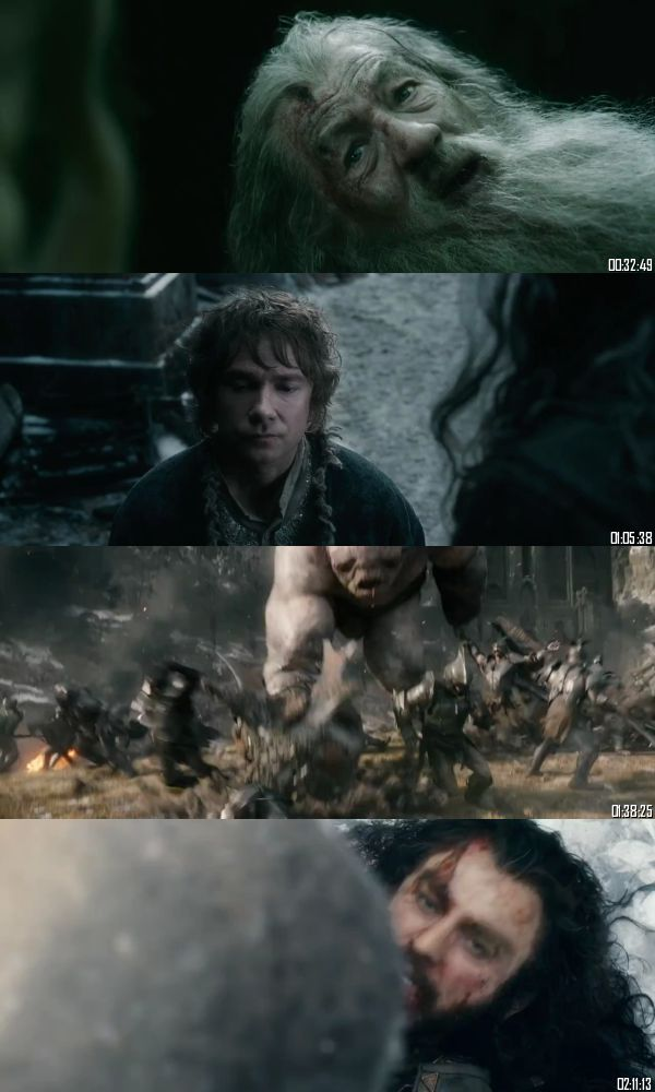 The Hobbit The Battle of The Five Armies 2014 BRRip 720p 480p Dual Audio Hindi English Full Movie Download