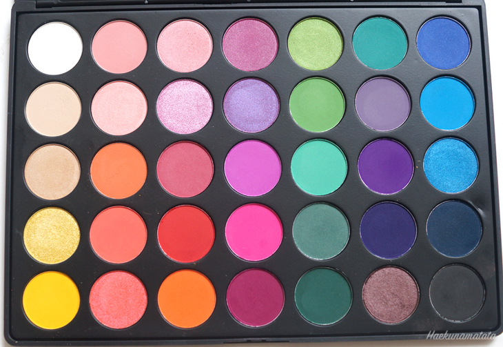 Morphe Brushes 35B Palette Review and Swatches
