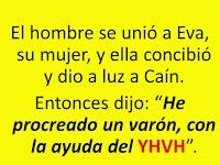 Resultado de imagen para EL hombre conoció a Eva, su mujer, que concibió y dio a luz a Caín. Y ella dijo: «He adquirido un hombre con la ayuda del Señor».
