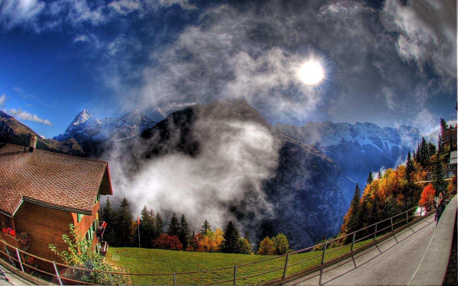landscape mountain beautiful wallpaper - photo #14