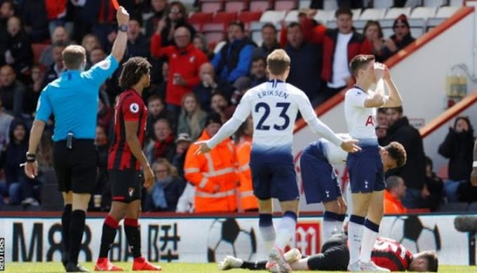 EPL: Nine-man Tottenham fail to secure top-four place