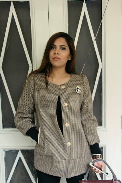 Chic Day Time Outfit, checked coat, check long coat, vintage coat, broach, how to style broach, chic winter outfit, delhi blogger, delhi fashion blogger, fashion, indian blogger, indian fashion blogger, beauty , fashion,beauty and fashion,beauty blog, fashion blog , indian beauty blog,indian fashion blog, beauty and fashion blog, indian beauty and fashion blog, indian bloggers, indian beauty bloggers, indian fashion bloggers,indian bloggers online, top 10 indian bloggers, top indian bloggers,top 10 fashion bloggers, indian bloggers on blogspot,home remedies, how to