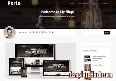 porto responsive blogger template