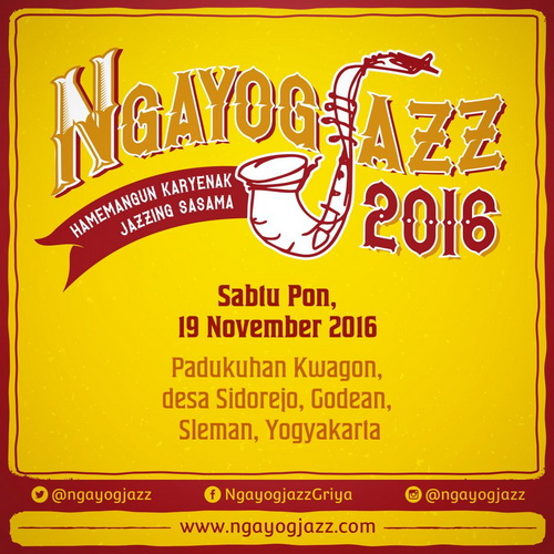 Tinuku Rural jazz festival Ngayogjazz 2016 scheduled 9 November in village Sidorejo, Yogyakarta