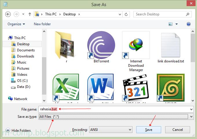 Cara Membuat Folder Tersembunyi - RH-Comp