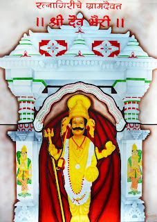 Stained Glass Art of Shri Dev Bhairi by Artist Rahul Lohkare