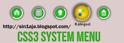 Css3 Circle System Menu