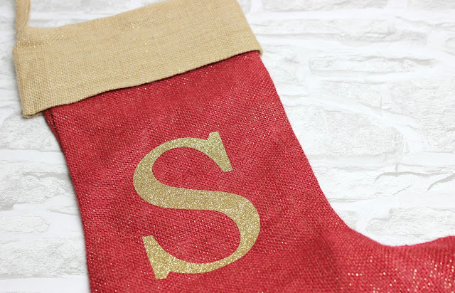 A review of The Handmade Christmas Co Monogrammed Natural Glitter Christmas Stocking