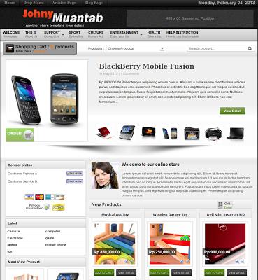 shopping cart template for blogger - gratis 6 template toko online blogspot dengan shopping