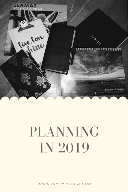 Planning in 2019 : My annual blog post showing what planners I'm using for this year. I've been working on a couple of new systems and trying out new products so I wanted to settle into everything before I shared pictures and thoughts.