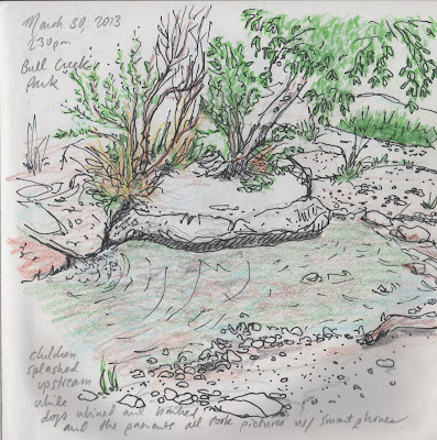 sketch of Bull Creek by David Borden