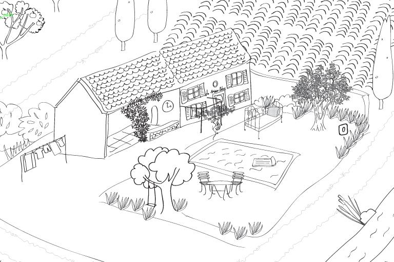 un coloriage g ant pour les enfants hello june. Black Bedroom Furniture Sets. Home Design Ideas