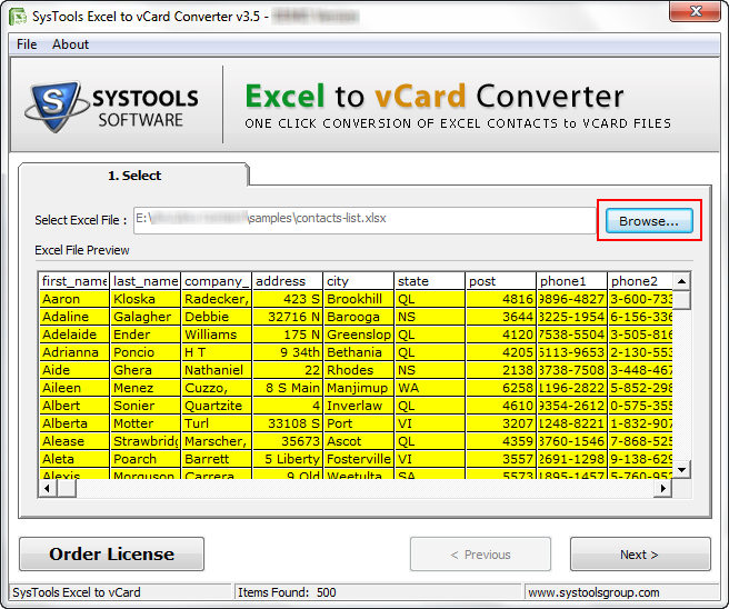 Import Excel Contacts(XLSX/XLS Spreadsheet) To Lotus Notes