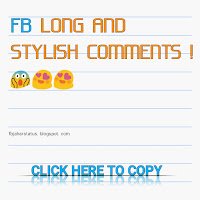 stylish comments for facebook