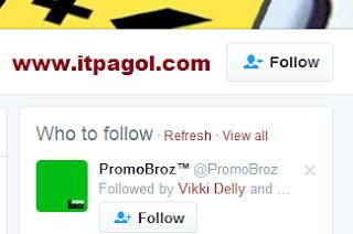 Click Follow button.
