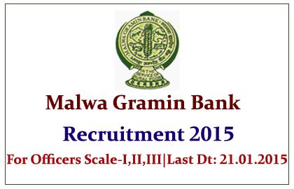 Malwa Gramin Bank Recruitment 2015