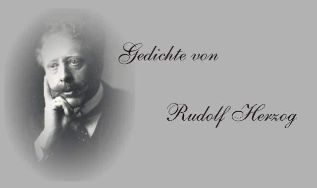 Bild des Dichters Rudolf Herzog