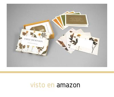 Tarjetas para notas con flores del herbario de Emily Dickinson para regalar