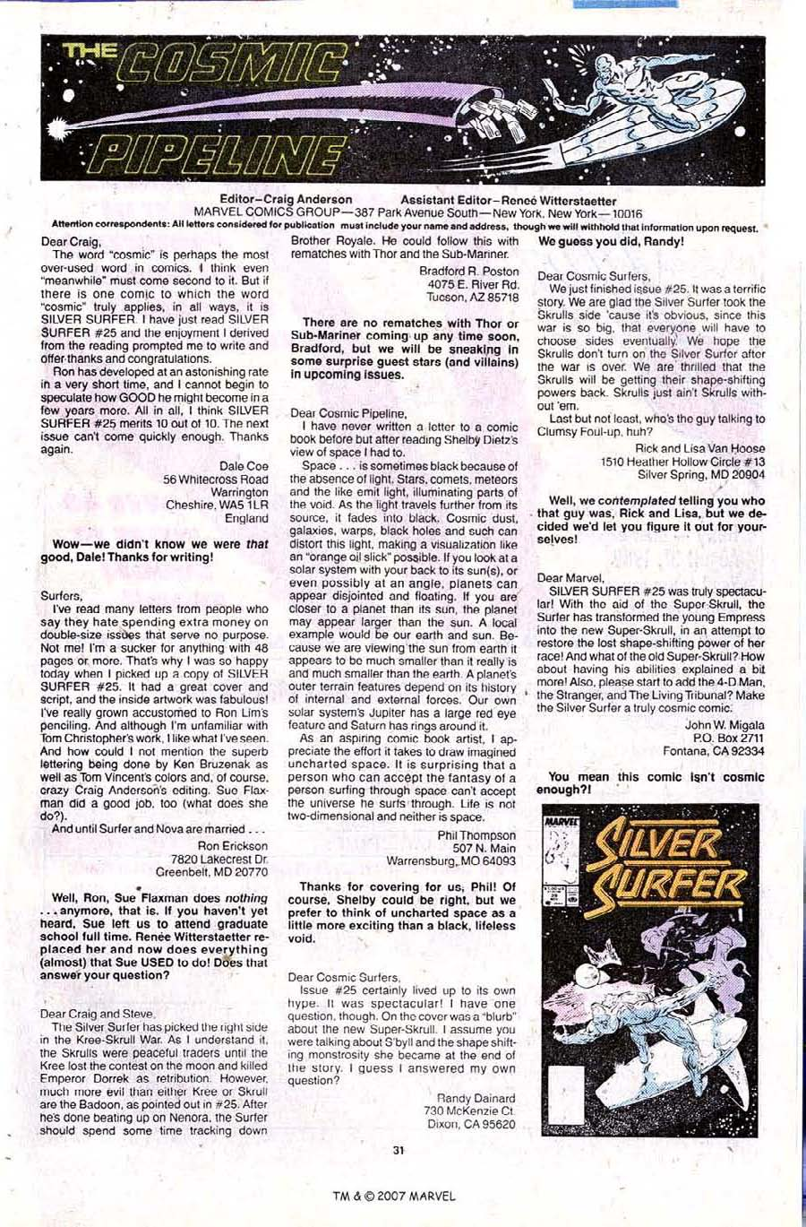 Read online Silver Surfer (1987) comic -  Issue #28 - 33