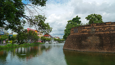 Part of the wall that surrounds Chiang Mai's old city