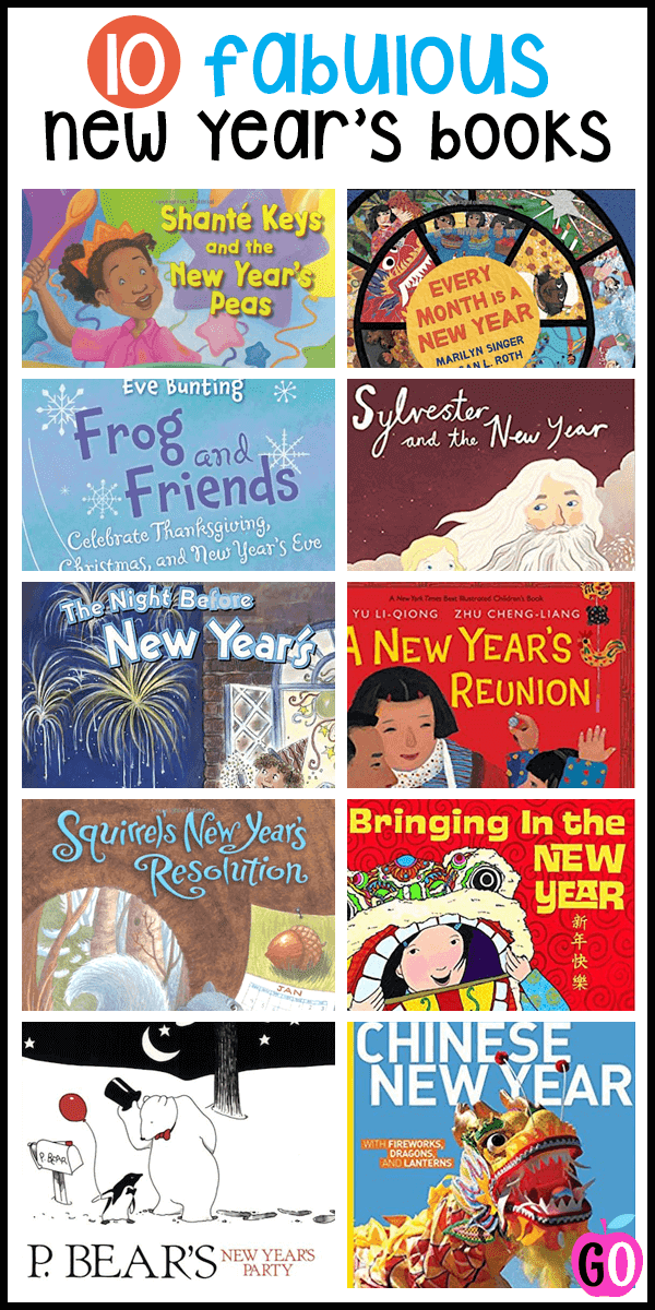 10 Fabulous New Year's Books for Kids. A wonderful round-up of what I think are the best books, plus links to my other New Year's posts. #newyears #newyearsbooks #booksforkids #gradeonederful