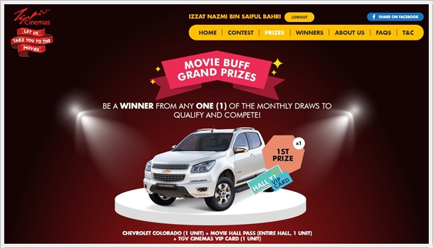 "Hadiah Utama ""Are You The Ultimate Movie Buff"" - Chevrolet Colorado"