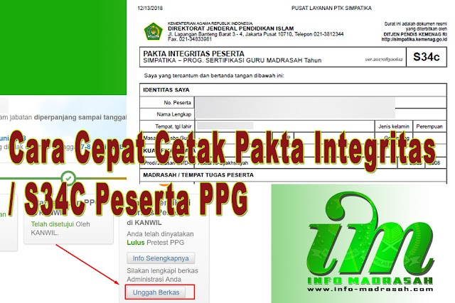 Cara Cepat Cetak Pakta Integritas/S34c Akseptor Ppg