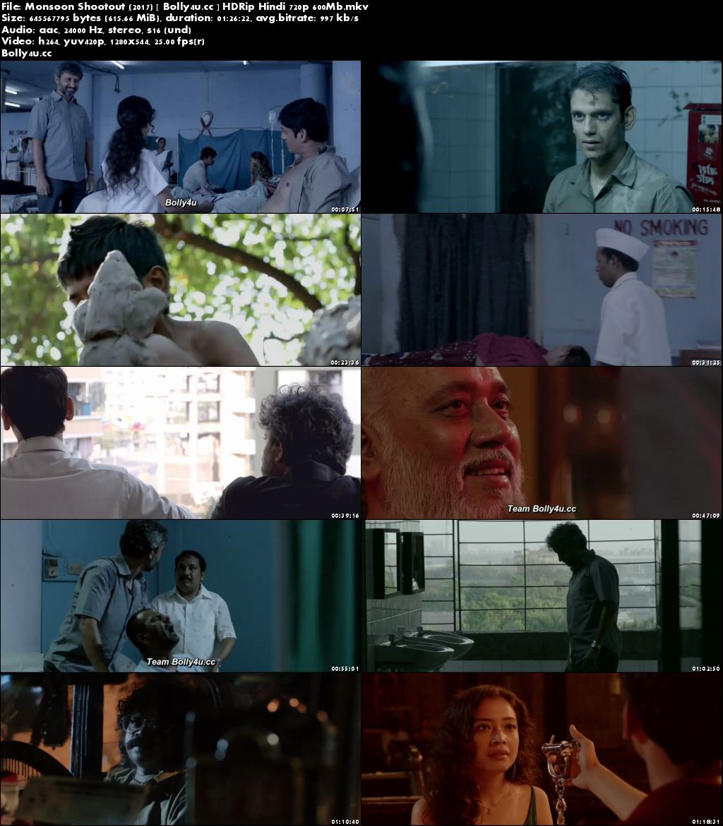 Monsoon Shootout 2017 HDRip 600MB Full Hindi Movie Download 720p