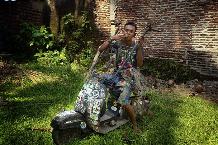 Old Vespa in Indonesia