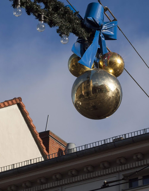 Christmas ornament on the street in Potsdam, Germany