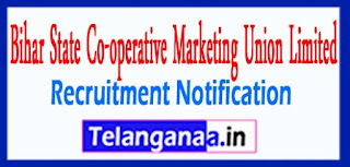 BISCOMAUN Bihar State Co-operative Marketing Union Limited Recruitment Notification 2017 Last Date 20-05-2017